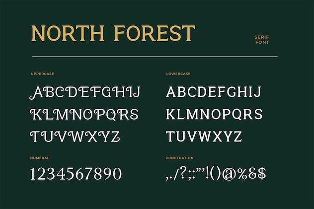 North Forest Vintage Serif Font