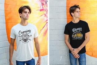 Thumbnail für Herren Urban T-Shirt-Mockups