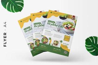 Thumbnail für Gesunde Ernährung Flyer Vorlage Förderung