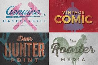 Thumbnail for Vintage Letterpress Texture Effects