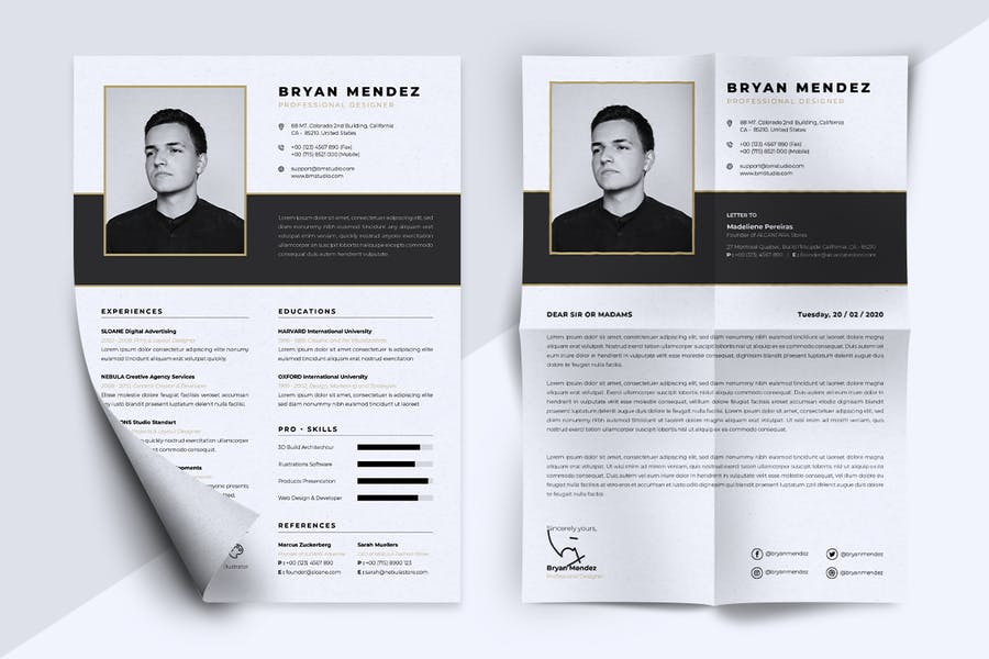 Minimalist CV Resume Vol.42 - product preview 5
