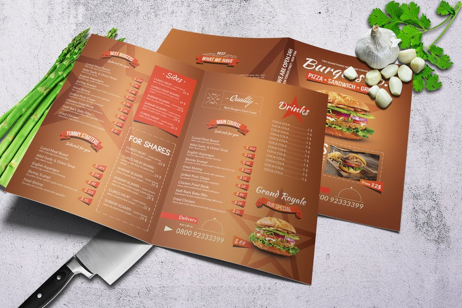 American Burgers A4 Menu - product preview 1