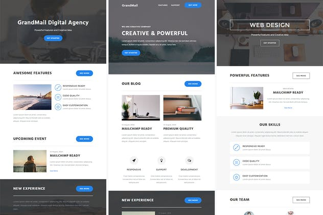 GrandMail - Responsive Email + StampReady Builder - product preview 3