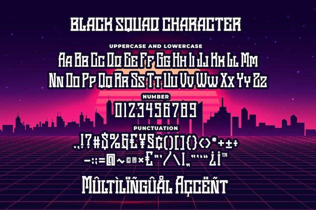 Black Squad Esport Font