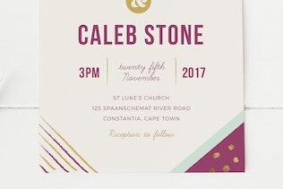 Thumbnail for Geometric Wedding Invitation