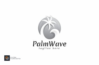 Thumbnail for Palm Wave - Logo Template