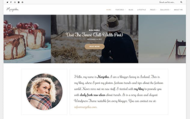 Marjetka - A Feminine WordPress Blog Theme - product preview 2