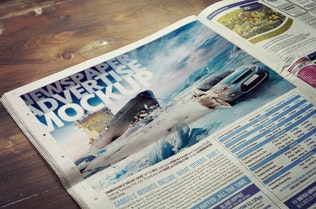 Thumbnail for Newspaper Advertise Mockup