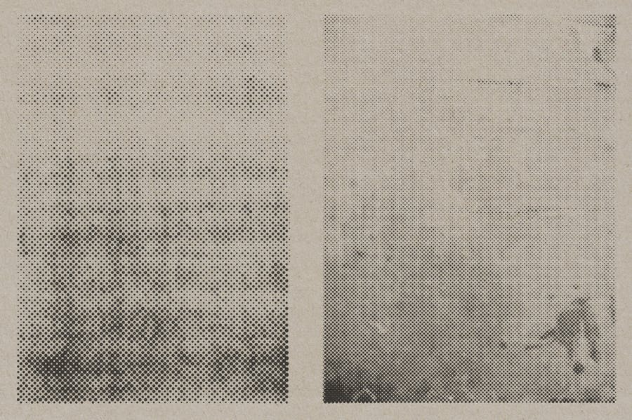 Halftone Vector Paper Textures - product preview 7