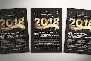 Thumbnail for New Year's Eve Celebration Flyer