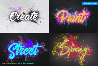 Thumbnail for Spray Paint Photoshop Action