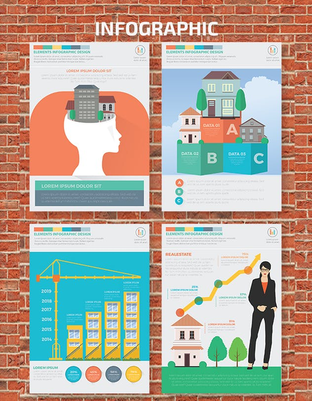 Real estate 2 infographic Design - product preview 3
