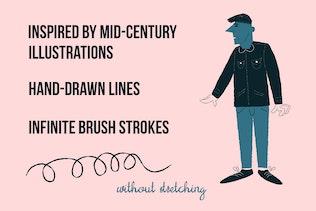 Thumbnail for Scribbler brushes for Adobe Illustrator
