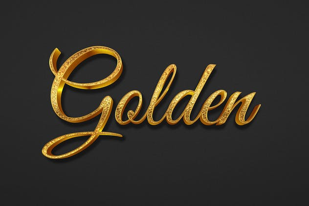 Golden Text Effect - product preview 1
