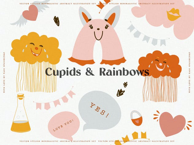 Cupids & Cute Rainbows - product preview 2