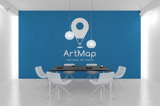 Thumbnail for ArtMap : Negative Space Location Pin Logo