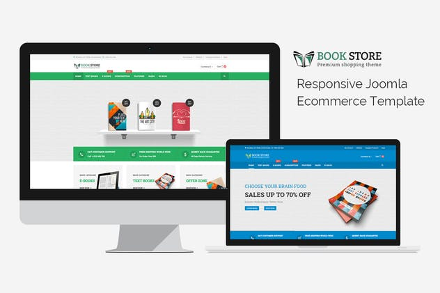 Bookstore - Responsive Joomla Ecommerce Template - product preview 1