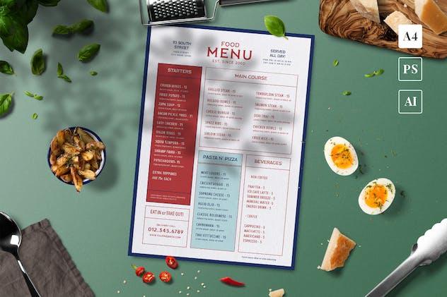 Modern Food Menu - product preview 1