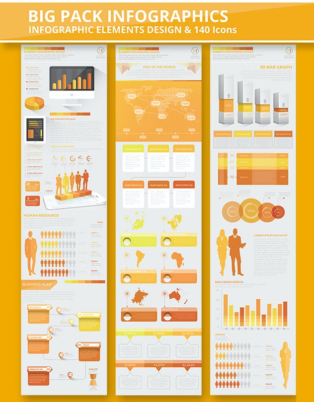 Yellow Infographics - product preview 5