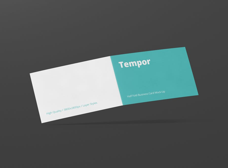 Folded Business Card Mockup By Visconbiz On Envato Elements