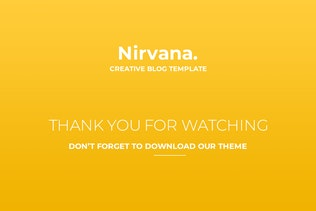 Thumbnail for Nirvana Creative Blog Template