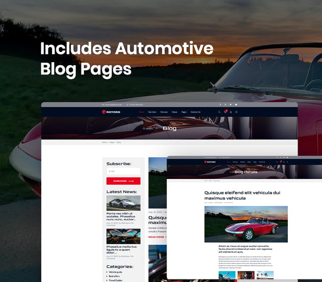 Automotive Website Template - product preview 3