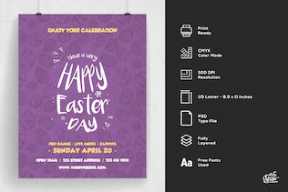 Thumbnail for Happy Easter Day Flyer