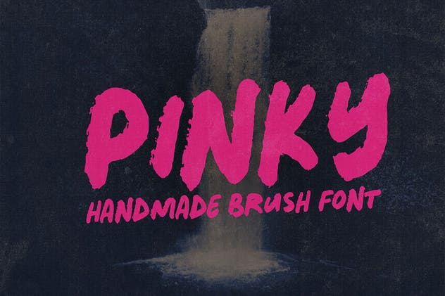 Pinky - Bold Handwritten Font - product preview 5