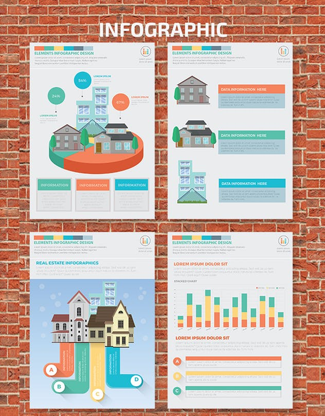 Real estate 2 infographic Design - product preview 2