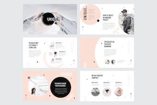 Thumbnail for UNIQUE - Google Slide Template V133