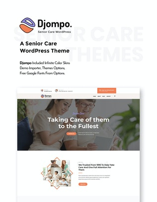 Thumbnail for Djompo | Cuidado Senior WordPress Tema