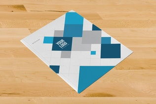 Thumbnail for Modern Blue Squares Stationery