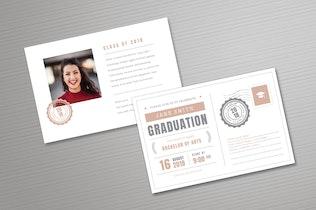 Miniature pour Invitation à la remise des diplômes par carte postale