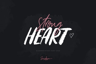 Thumbnail for Strong Heart - Font Duo