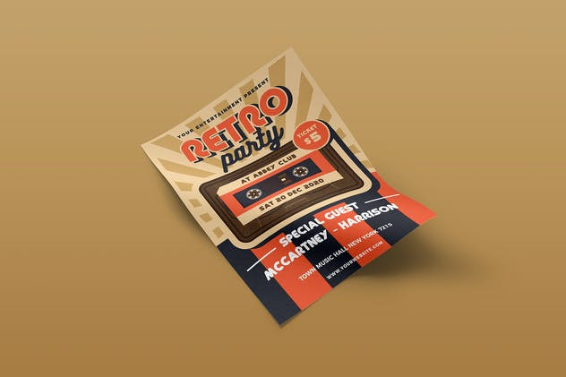 Retro Music Flyer Template Vol. 01 - product preview 3