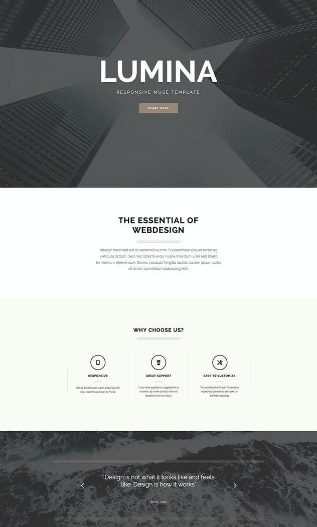 Lumina - Responsive Muse Template for Creatives - product preview 2