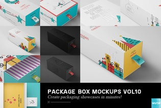 Thumbnail for Package Box Mock-ups Vol10