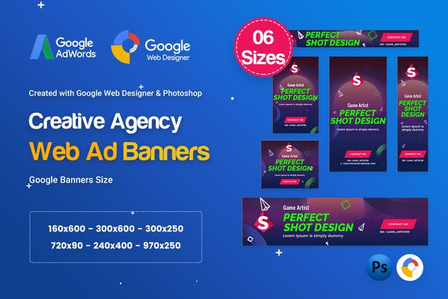 Creative, Startup Agency Banners HTML5 D41 - GWD