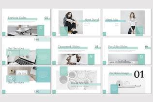 Миниатюра для Etion - Бизнес Google Слайды Шаблон