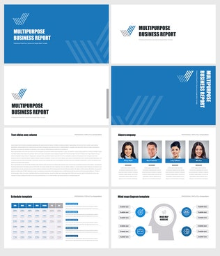 Thumbnail for Multipurpose Business Report for PowerPoint