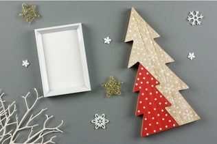 Thumbnail for Christmas White Picture Frame Mockup