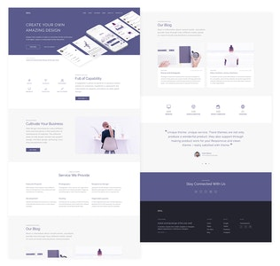 Thumbnail for Zeal - Creative One Page PSD Templates  (Vol. 2)