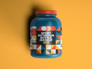 Thumbnail für Sport Nutrition Flasche Mockup 002