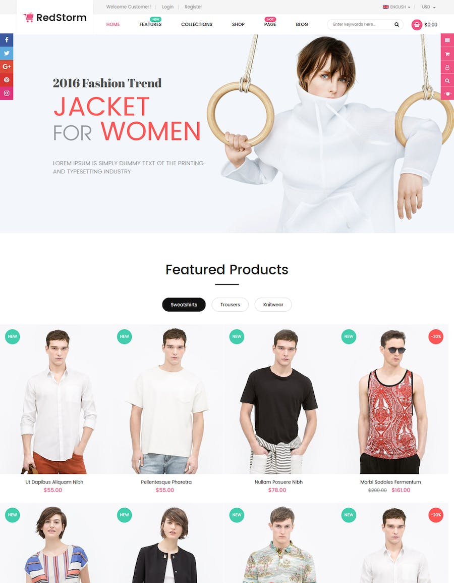 RedStorm - Sectioned Responsive Shopify Theme - product preview 5