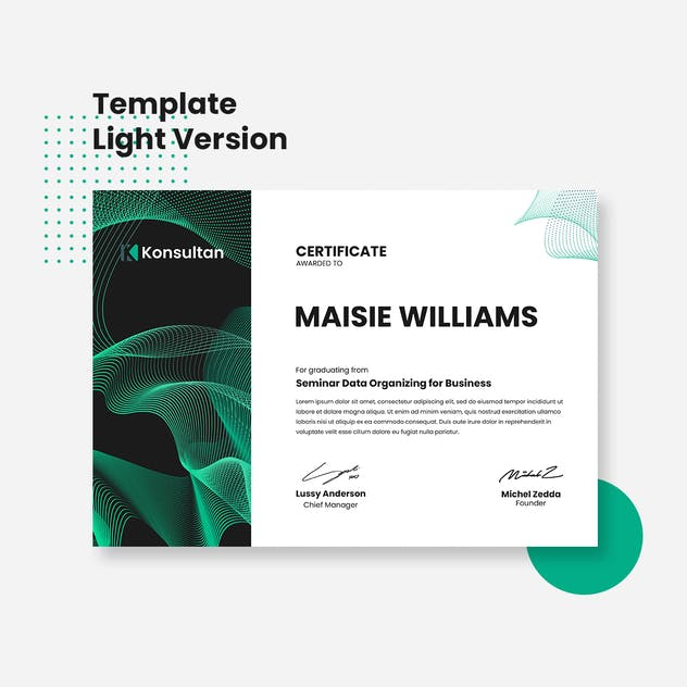 Certificate - Konsultan 1 - product preview 2