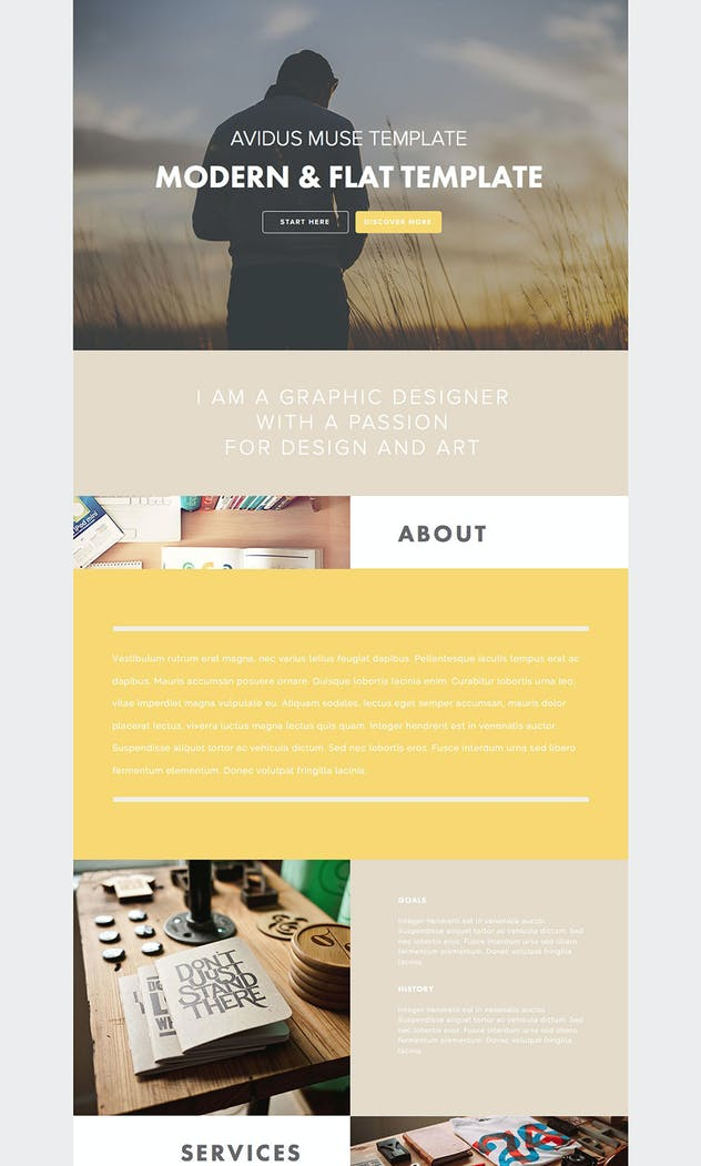 Avidus - Multipurpose Muse Template for Creatives