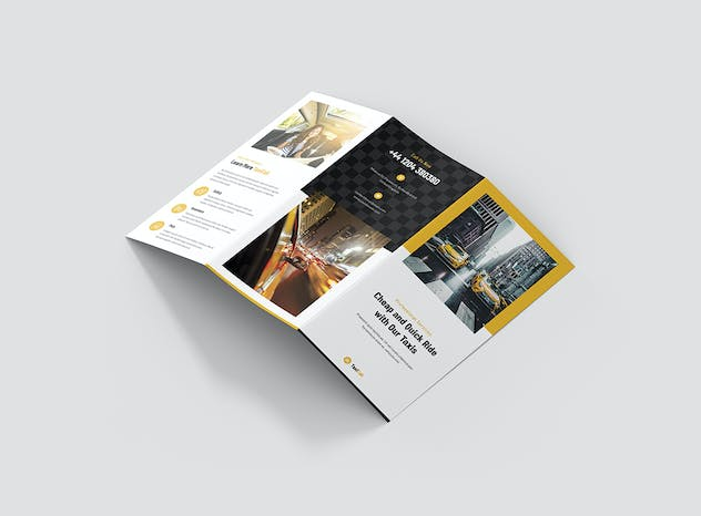Taxi Cab – Brochures Bundle Print Templates 5 in 1 - product preview 13