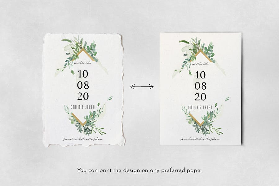 Gold & Greenery Wedding Suite - product preview 7