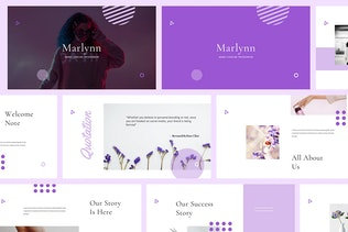 Thumbnail for Marlynn - Branding Guidelines Keynote