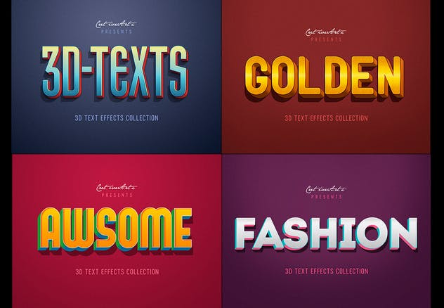 Retro Vintage 3D Text Effects - product preview 1